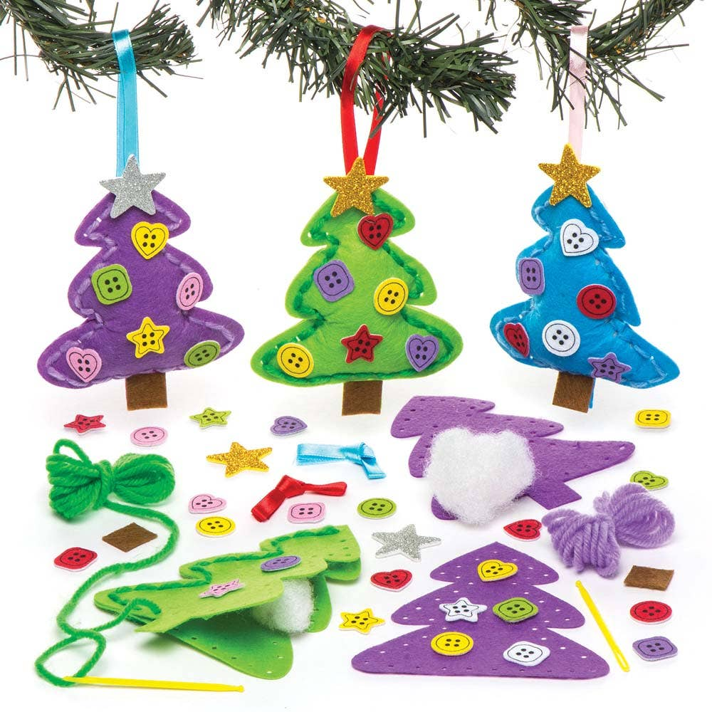 christmas tree decoration sewing kits baker ross